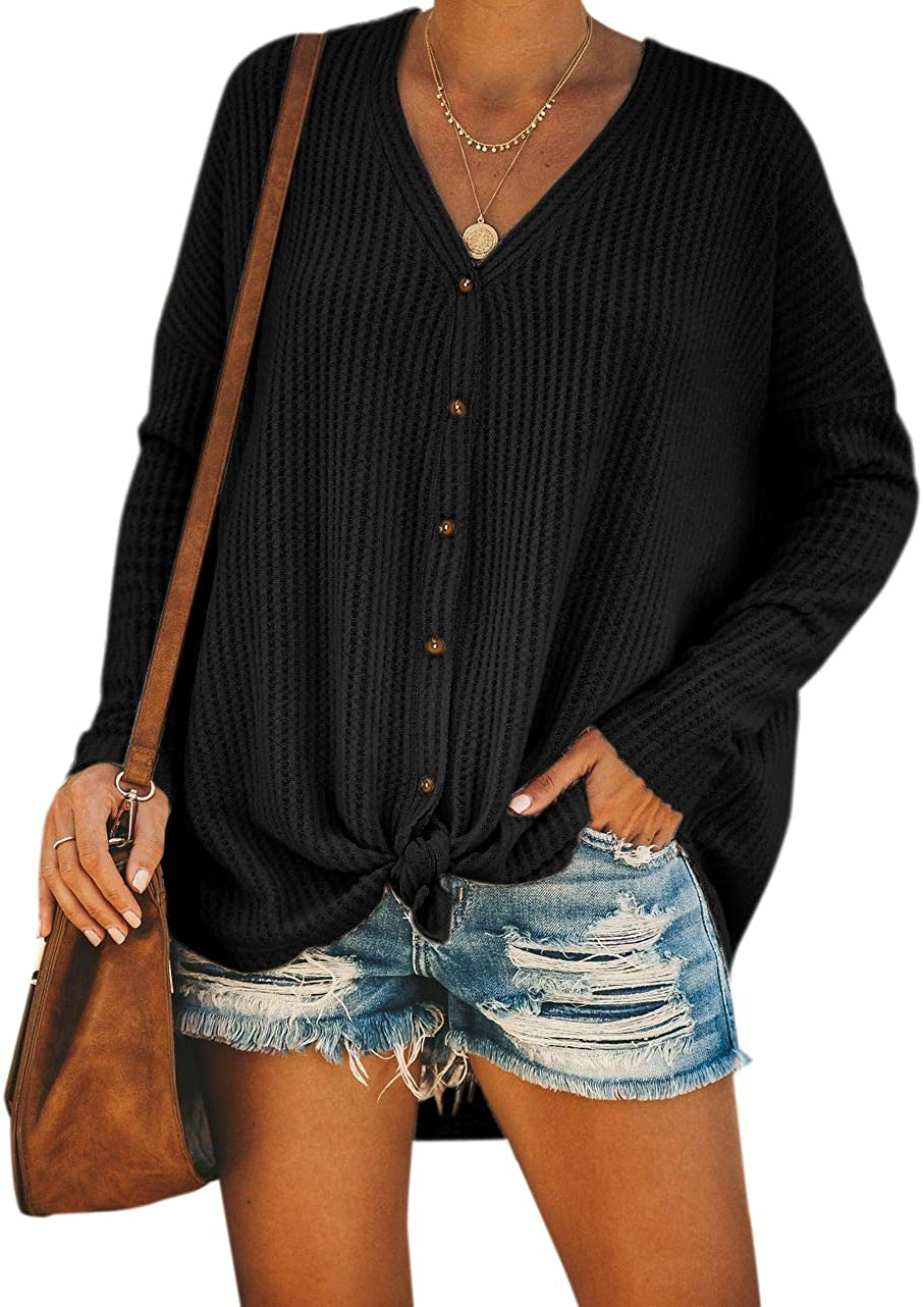 YOINS Cardigan Sweaters for Women Casual Open Front V Neck Long Sleeves Knits Tops Pullover Sweaters