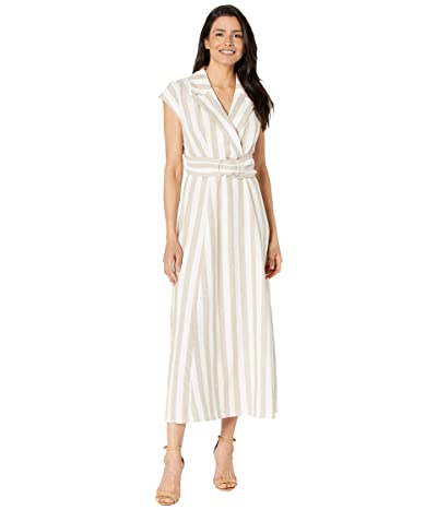 Calvin Klein Striped Linen Maxi Dress Women