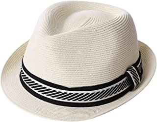 7b8cf843440fe Fedora Straw Fashion Sun Hat Packable Summer Panama Beach Hat Men Women  56-62CM