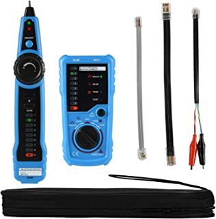 Wire Tracker RJ11 RJ45 Cable Toner Line Finder Multifunction Wire Tracer Ethernet LAN Network Cable Collation Telephone Line Tester Continuity Checking with RJ11 Adapter, Toolkit, eBook