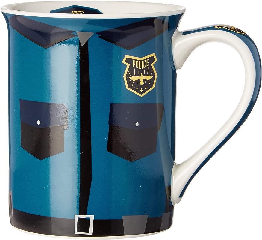 Enesco 6002459 Our Name Is Mud Police Uniform 16 Oz Stoneware Mug Blue
