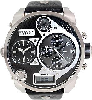 Diesel Mr. Daddy for Men - Analog-Digital Leather Band Watch - DZ7125