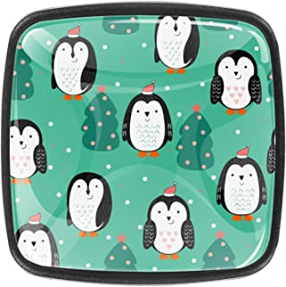 Pingouin mignon de bande dessinée (3) 4 PCS Tiroir de Porte Poignée, Bouton de Meubles, Boutons de Tiroir, Boutons de Port...
