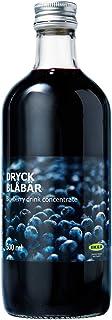 IKEA DRYCK BLÅBÄR Blueberry syrup (Blueberry, Pack of 1, 16.9 oz)