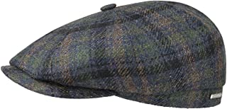 Hatteras Wool Check Flat Cap Men - Made in The EU