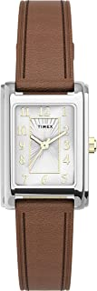 Timex Womens Quartz Watch, Analog Display And Leather Strap - TW2U06100