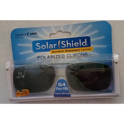 2dc269eab9 Solar Shield Polarized Clip-on Sunglasses 54 Rec 19 Gray Lenses Fits Full  Frame