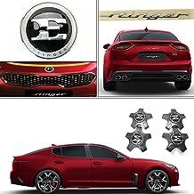 Kia Genuine OEM Front & Rear Emblem/19 Center Wheel Cap Set (Total 6 pcs) for Stinger 17~18