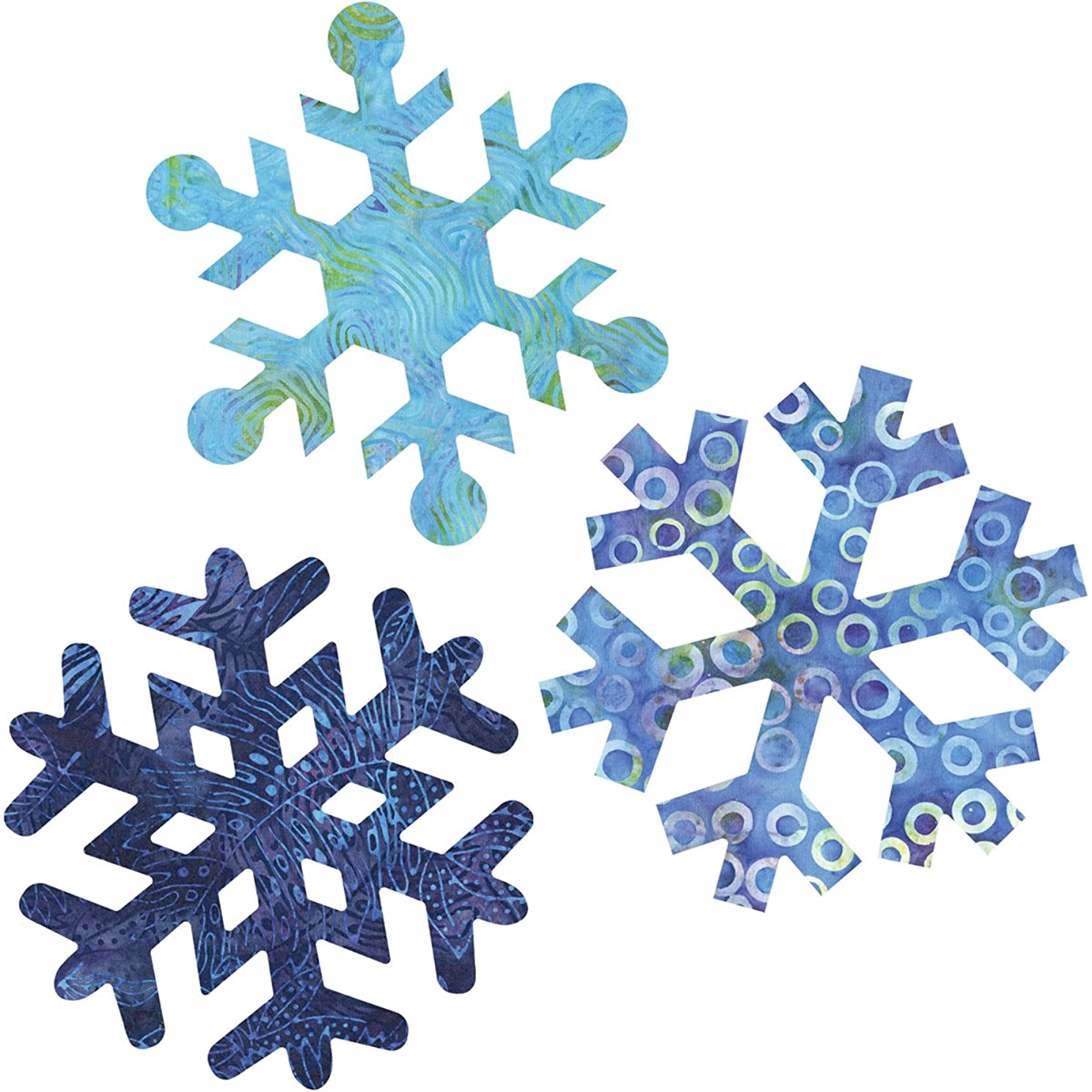 AccuQuilt GO! Fabric Cutting Dies, Snowflakes 7-Inch