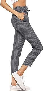 Jollymoda Women's Ruffle Tie Waist Pants with Pockets
