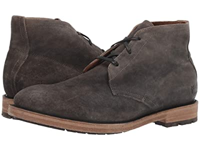 Frye Bowery Chukka (Faded Black Distressed Oiled Suede) Men