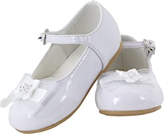 Betty Patent Leather Flower Mary Jane Shoes for Toddlers