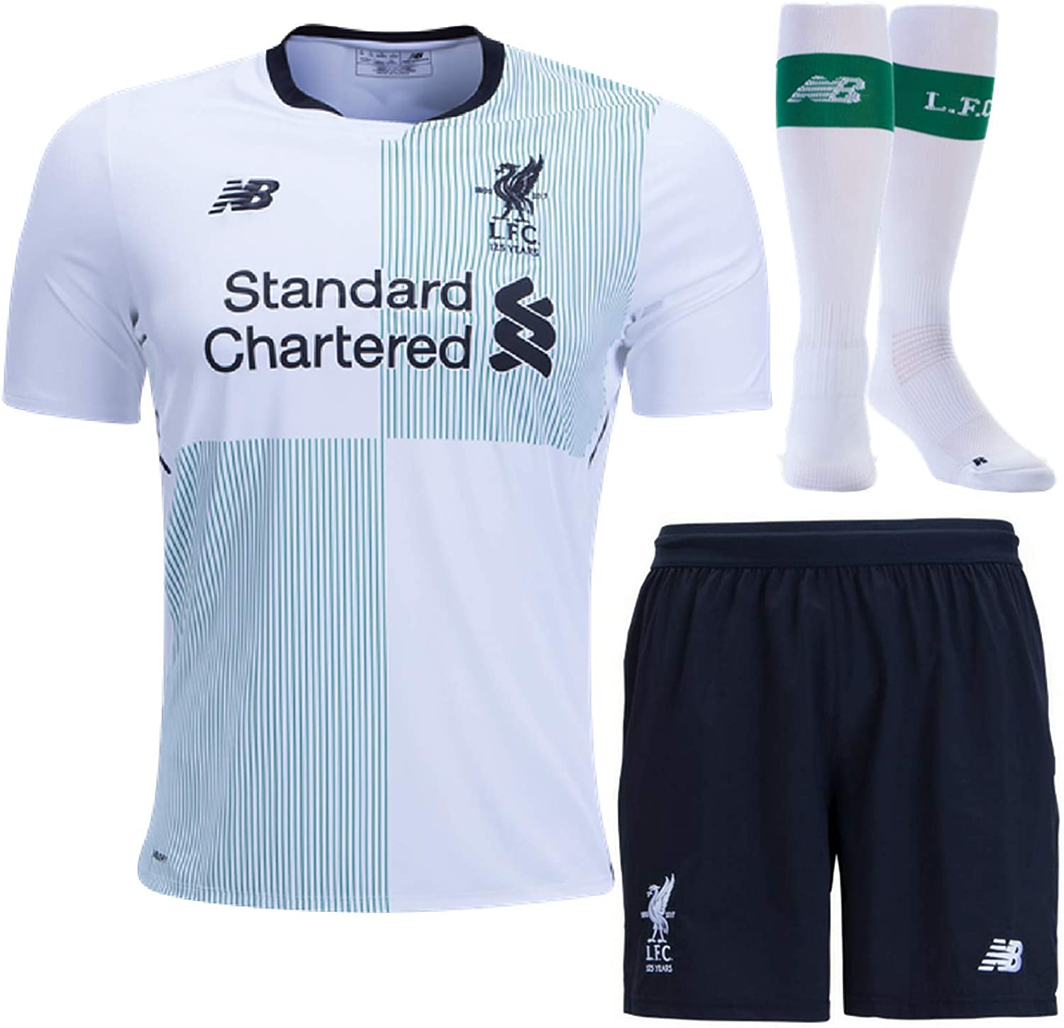Liverpool Away Full Kit Short Sleeve Shirt Shorts & Socks Kids 2017 18