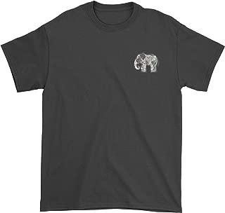 Expression Tees Embroidered Furry Mandala Elephant Patch (Pocket Print) Mens T-Shirt