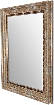 Art Street Rectangle Synthetic Wall Mirror (40.64 cm x 50.8 cm x 2 cm, Beige)