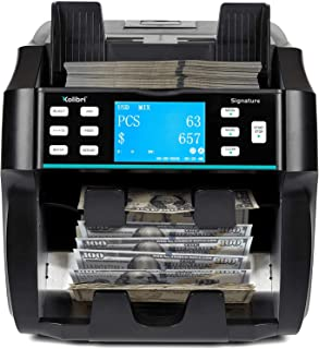 Kolibri Signature 2 Pocket Bank Grade Mix Value Counter and Sorter Machine for 5 Currency (AED-USD-SAR-OMR-EUR), Counterfe...