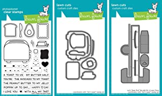 Lawn Fawn - Let's Toast - Stamp and Dies Set - Let's Toast Stamp, Die and Pull Tab Add-On Die - 3 Item Bundle