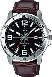 Casio MTP-VD01L-1BV Men's Enticer Stainless Steel Black Dial Casual Analog Sporty Watch