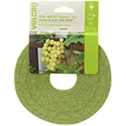 VELCRO Brand 90648 ONE-WRAP Supports for Effective Growing | Strong Gardening Grips are Reusable and Adjustable | Gentle Plant Ties | Cut-to-Length | 75 ft by 1/2 in roll | Green, x, Opens in a new tab