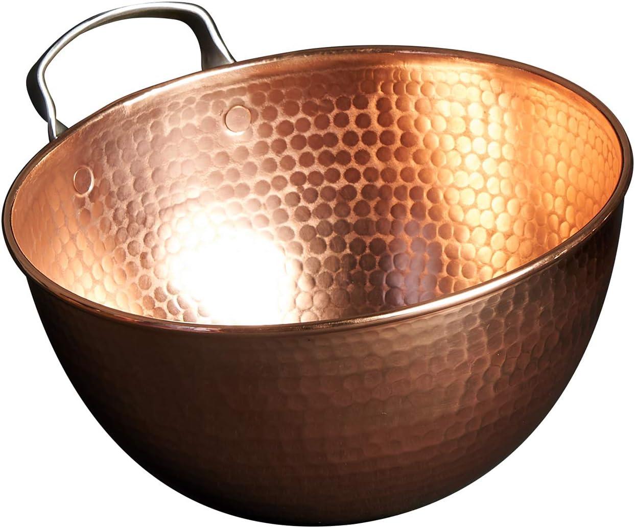 Sertodo Copper Austin Mall Mixing Bowl 6 inch quart Max 75% OFF diameter capacity 12