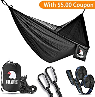 Covacure Camping Hammock - Lightweight Double Hammock,Hold Up to 772lbs,Portable Hammocks for Indoor,Outdoor, Hiking, Camping, Backpacking, Travel, Backyard, Beach