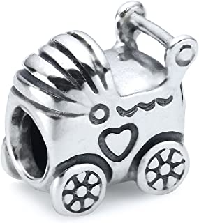 Pandora Women's Baby Carriage Charm - 925 Sterling Silver, 790346