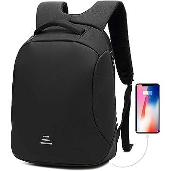 Antivol Sac à Dos Ordinateur Portable 15.6 Pouces Imperméable Sac à Dos Homme Securite USB Sac PC Portable pour Voyage Affaires École Noir