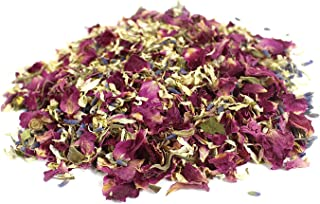 Wedding Confetti Dried Flower Petals – 15/30 Packet Natural Confetti with16/ 32 Pieces Cone Papers, Option for Wedding Dec...