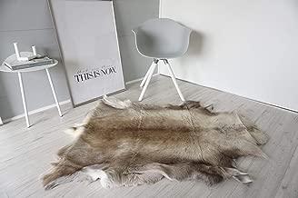 MILABERT Genuine Super Soft - Extra Large Scandinavian Reindeer Skin - Rug | Hide | Pelt - RE 383