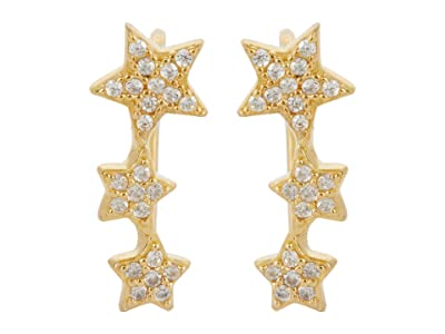 SHASHI Trinity Climber Earrings (Gold) Earring