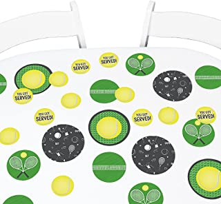 Big Dot of Happiness You Got Served - Tennis - Baby Shower or Tennis Ball Birthday Party Giant Circle Confetti - Party Decorations - Large Confetti 27 Count