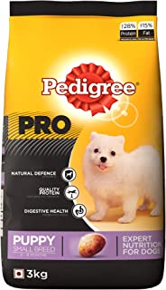 Pedigree PRO Expert Nutrition Small Breed Puppy (2-9 Months) Dry Dog Food 3kg Pack