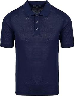 BRIAN DALES Luxury Fashion Mens KN2920M15865 Blue Polo Shirt | Spring Summer 20