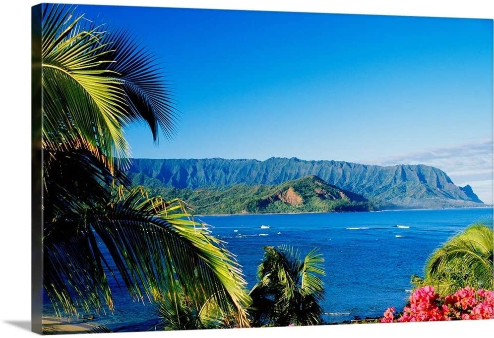 Hawaii Kauai Hanalei Bay Bali Sale price Hai Art Pal Wall Print 5 popular Canvas
