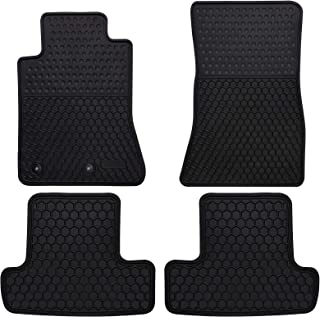Megiteller Car Floor Mats Custom Fit for Ford Mustang 2015 2016 2017 2018 2019 2020 2021 Odorless Washable Heavy Duty Rubber (All Weather) Floor Liners Front and Rear Row Set Black