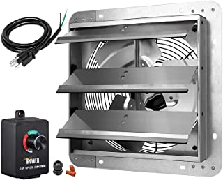 iPower HIFANXEXHAUST12CTB 12 Inch Variable Shutter Exhaust Fan with Speed Controller and..