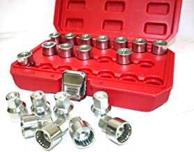 9TRADING 20pc Locking Wheel Nut Key Socket Master OEM Multi Spline For Porsche Cayenne VW