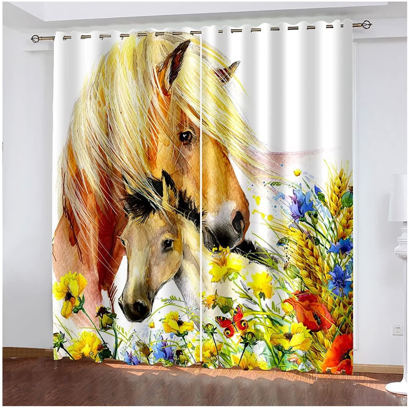 Daesar Blackout Curtains 2 New product Discount mail order Panel Wind Sets Bedroom for