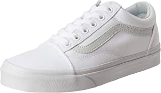 Unisex Old Skool True White Canvas Skate Shoes 11