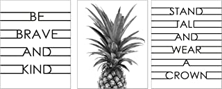 Modern Home Pineapple Inspirational and Motivational Wall Decor Prints. Artwork for Bedroom, Bathroom, Office, Kitchen, Living Room, House, Bathrooms. Poster Decorations ft Quotes and Pineapples
