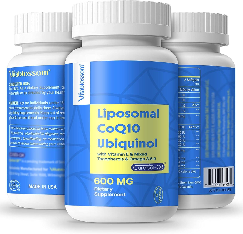 Liposomal CoQ10 600 mg Softgels U High Q10 Max 44% OFF Coenzyme Ranking TOP15 Absorption