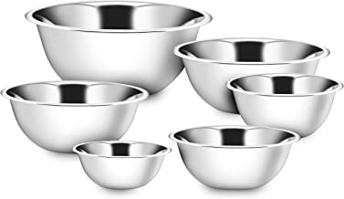 Best 4 piece set of stainless steel mixing bowls Reviews