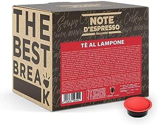 """Note d""""Espresso Kaffeekapseln für Lavazza und A Modo Mio Kaffeemaschinen, Himbeertee, 10 g 100-er Pack"""