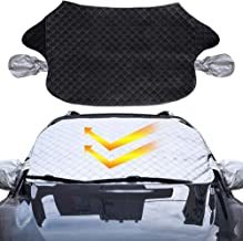 carsun Snow Cover for Car Windshield - Auto UV Protector Cover Shields Windshield Snow Shades for All Weather Car Front Window Cover (75x 39 inches)