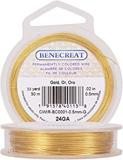 20 Gauge Beadalon Gold Silver Plate Round German Wire 1//4LB Spool - 80ft