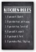 "Seven Rays Fridge Magnet ""Kitchen Rules"""