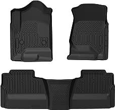 oEdRo Floor Mats fit for Crew Cab 2014-2018 Chevy Silverado/GMC Sierra 1500/2015-2019 2500HD/3500HD, Front, Rear, Full Set Custom Fit Floor Liners