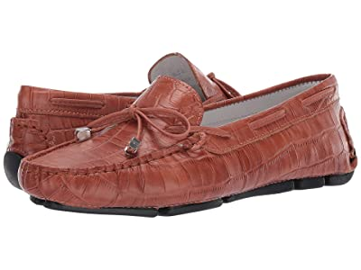 Massimo Matteo Croco Tie Driver (Incendaire Brown) Women