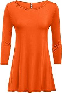 18b67271ea3544 Simlu Womens Tunic Tops for Leggings Reg and Plus Size 3 4 Sleeve Tunic  Shirt