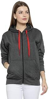 Scott International Women's Rich Cotton Sweatshirt with Zip - Charcoal